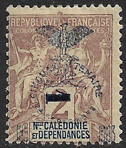NEW CALEDONIA 1903 1c on 2c Surcharged JUBILEE Issue Sc 81 MH