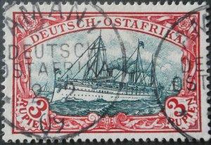 German East Africa 1901 Three Rupien with AMANI postmark