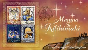Tokelau 2017 FDC Christmas Nativity Mary Baby Jesus Angels 4v M/S Cover Stamps
