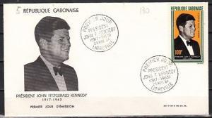 Gabon, Scott cat. C27. President John Kennedy issue. First Day Cover.