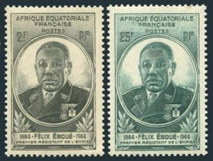 French Equatorial Africa 156-157,MNH.Michel 253-254. Felix Eboue,1945.