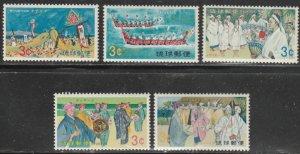 Ryukyu Islands #185-189 MNH Full Set of 5