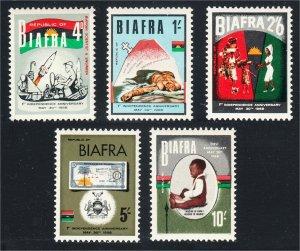 Biafra 1968 First Anniversary of Independence #17-21 Scientist Nurse War MNH