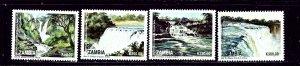 Zambia 617-20 MNH 1989 Waterfalls