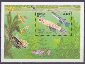 1991 Sierra Leone 1639/B165 Marine fauna 8,00 €