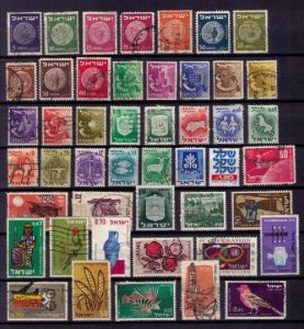 ISRAEL Lot OF (47) Used With A Few Mint Hinged F-VF (1949-1964):Unchecked