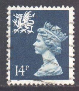 GB Regional Wales, 1971 Machin 14p used