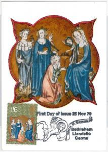 RELIGION Art -  GB : MAXIMUM CARD 1970  Bethlehem Llandeilo Carms 1/6