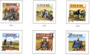 Isle of Man Sc 1228-33 2007 Ploughing stamp set used