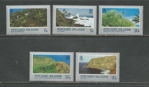Pitcairn Islands MNH 198-202 Scenic Views