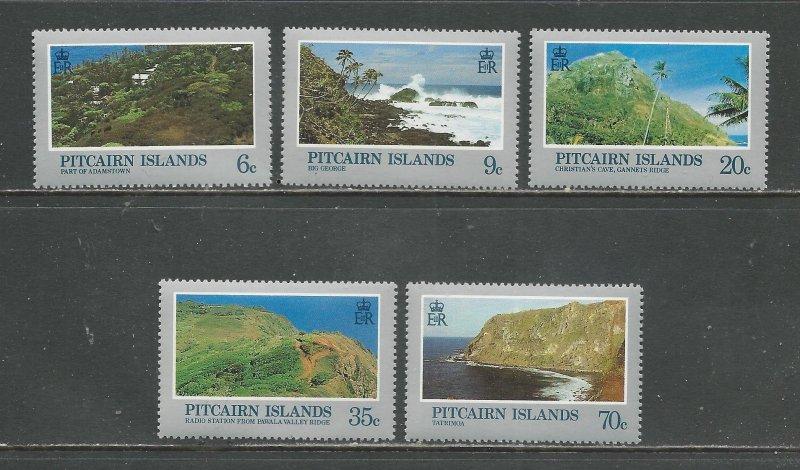 Pitcairn Islands MNH 198-202 Scenic Views