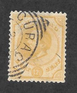 NETHERLANDS ANTILLES Scott #8 Used 5c King William IIl stamp 2015 CV $52.50