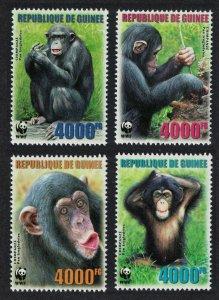 Guinea MNH 4222-5 Chimpanzees WWF 2006