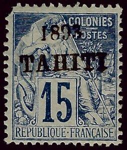 Tahiti SC#22 Mint F-VF nibbed corner SCV$55.00 .. Fill a Regal Spot!