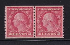 454 Pair VF-XF- og never hinged with nice color cv $ 350 ! see pic !