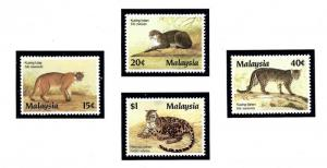 Malaysia 368-71 MNH 1987 Protected Wildcats