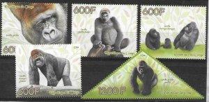 2014   CONGO  -  GORILLAS  -  MNH