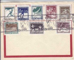 1925, Budapest, Hungary, Athletic Set on Philatelic Cover (24408)