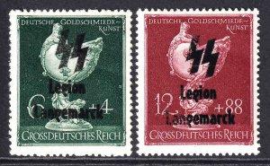GERMANY B286-B287 LEGION LANGEMARCK OVERPRINT OG NH U/M F/VF BEAUTIFUL GUM