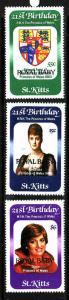 St. Kitts-Sc#96-8-unused NH set-Royal Baby-Princess Diana Birthday-Prince Willia