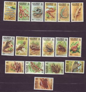 J23745 JLstamps 1979-83 solomon islands part of set mlh #397-412a, no 40c,50c