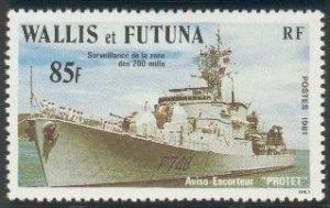 Wallis & Futtuna 1981  Aviso escort protet mint**