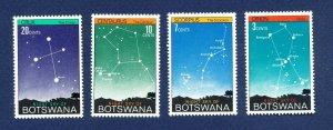 BOTSWANA - # 84-87 - VFMNH - Constellations, Stars, Space topical - 1972