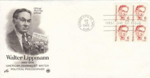 1985, Walter Lippmann, Artcraft, FDC (D12806)