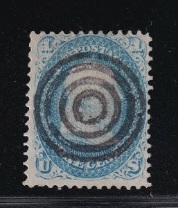92 F-VF used Fancy S.O.N Bullseye cancel with nice color cv $ 425 ! see pic !