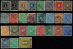 GERMANY ALLIED 1946-47 NUMERAL FULL SET USED (VFU) SG899-925 Wmk.230 P.14 SUPERB