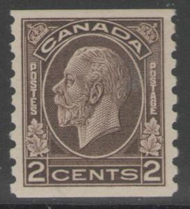 CANADA SG327 1933 2c SEPIA MTD MINT