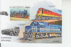 2019 Angola African Trains SS (Scott NA) MNH