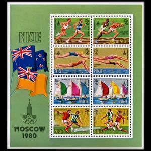 NIUE 1980 - Scott# B42 S/S Olympics NH