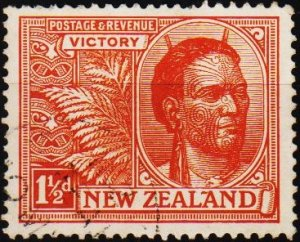 New Zealand. 1920 1 1/2d S.G.455 Fine Used