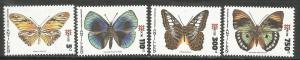 CURACAO, 766-769, H, BUTTERFLY