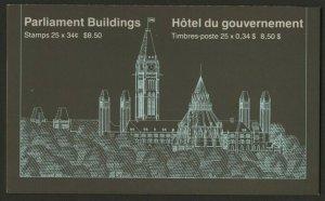 Canada 925a Booklet BK89a MNH Parliament Buildings