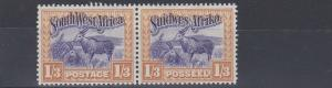 SOUTH WEST AFRICA  1931  S G 81  1S 3D    VIOLET & YELLOW    MH