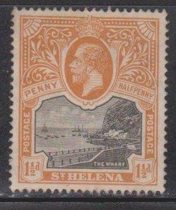 ST HELENA Scott # 63 MH - King George V & The Wharf