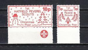 Great Britain, Cinderella issue. Hatfield Scouts Xmas Post.