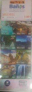 A) 2019, ECUADOR, TOURISM. HOLY WATER BATHS. ADHESIVES, TREE HOUSE, DOG FACE