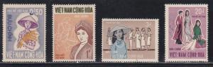 Viet Nam (South) # 343-346, Vietnamese Women, NH, 1/2 Cat