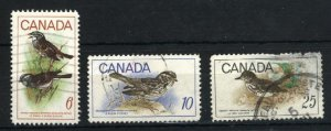 Can #496-98   u   VF 1969 PD