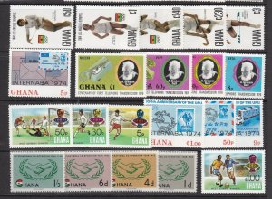 GHANA  ^^^^^sc#200//235    MNH sets  collection $$@ lar1943ghamna