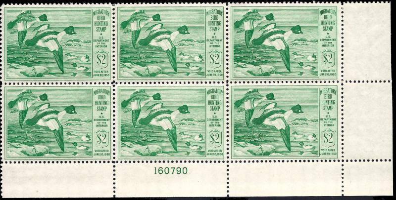 RW16 Mint,OG,NH... Plate Block of 6... SCV $425.00