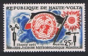 Upper Volta First World Meteorological Day 1v 1961 MNH SG#93