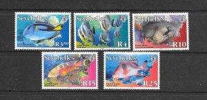 FISH - SEYCHELLES #854a-858a (dated 2010)  MNH
