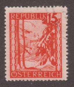 Austria 503 Forchtenstein Castle, Burgenland 1948