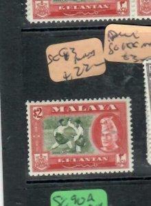 MALAYA  KELANTAN  (P1606B)  SG 93   MNH