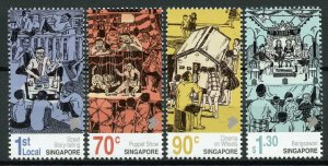 Singapore 2019 MNH Street Story Telling 4v Set Cultures & Traditions Stamps