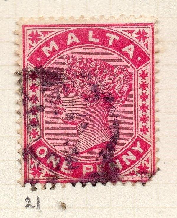 Malta 1885 Early Issue Fine Used 1d. 259495